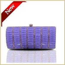 Neue ankunft 2014 mode frauen strass abendtasche hard verkleidet lila kristall boxed clutch bag phone geldbörse #4050