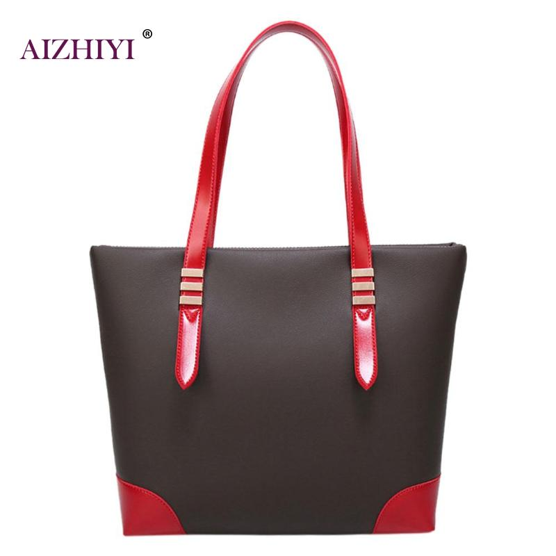 Elegant Women PU Leather Shoulder Bag Zipper Large Capacity Ladies Bags Casual Totes Shopping Handbag Brand Design Handbags