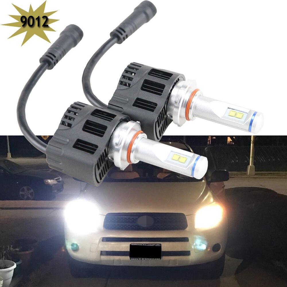 2x 9012 9012LL HIR2 PX22d LED Canbus 10400Lm 110W For Lumileds Chips LEDs Car Auto bulb Lamp Headlight Fog Light Headlamp