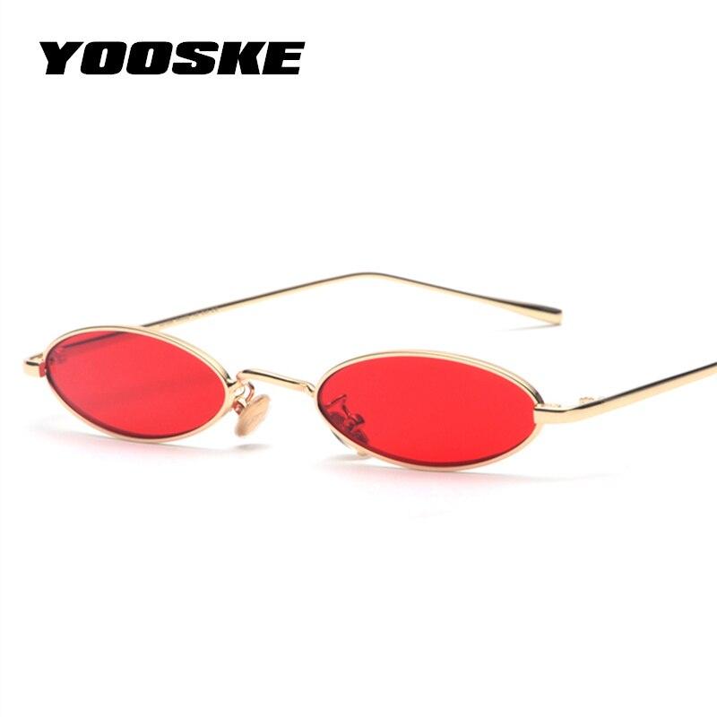 YOOSKE Small Oval Sunglasses Wo