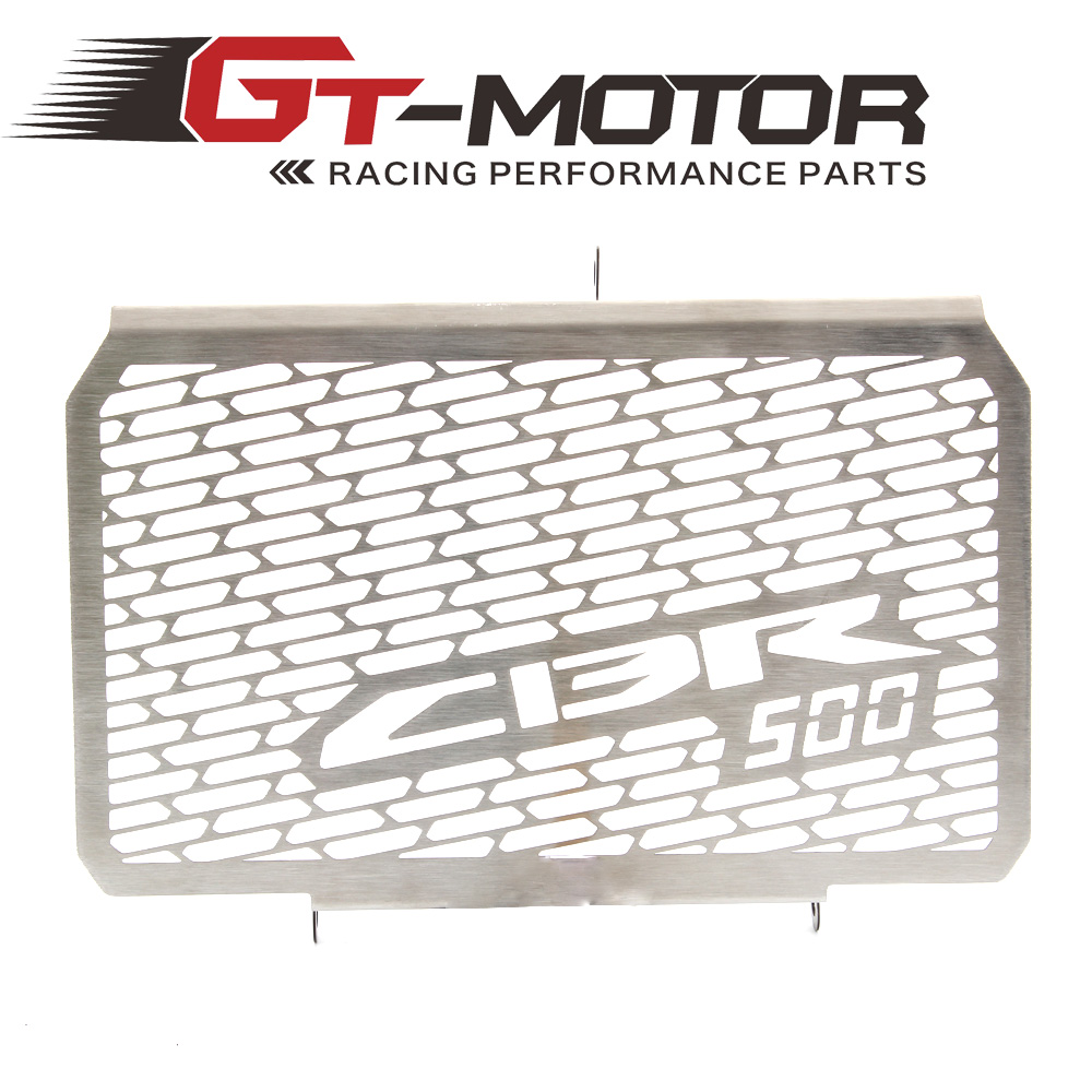 GT MOTOR - Radiator Grille Grill Cover Protector Guard For HONDA CBR500 2013-2014 motorcycle radiator grille protective cover grill guard protector for 2013 2014 2015 2016 honda cbr600rr cbr 600 rr