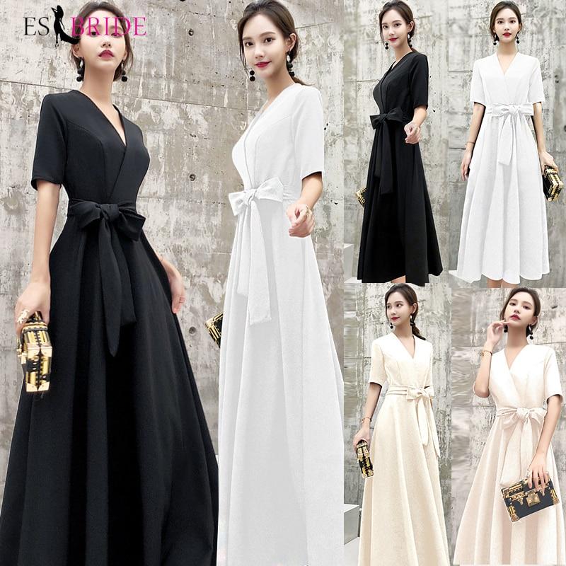 Black   Evening     Dresses   Long Formal Elegant prom   dresses   Plus Size Lace Appliques Wedding Guest   Dress   Party Gown Vestidos ES1205