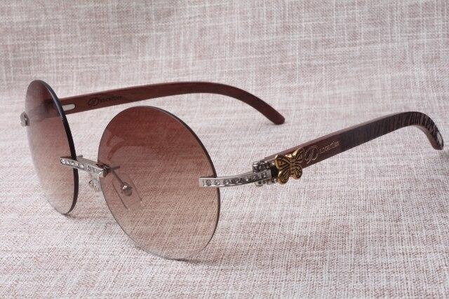Hot lujo ronda gafas de sol de diamante 3524012 (B) de gama alta A ...