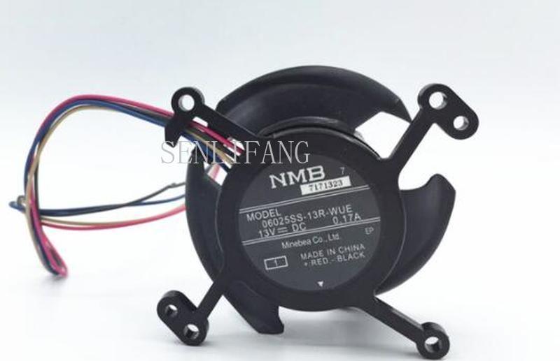 Free Shipping  Original NMB 06025SS-13R-WUE DC13V 0.17A For CB-S04/W04/S04E/U04/X04/X31/X31E/S32/W32/X36 Projector Cooling Fan
