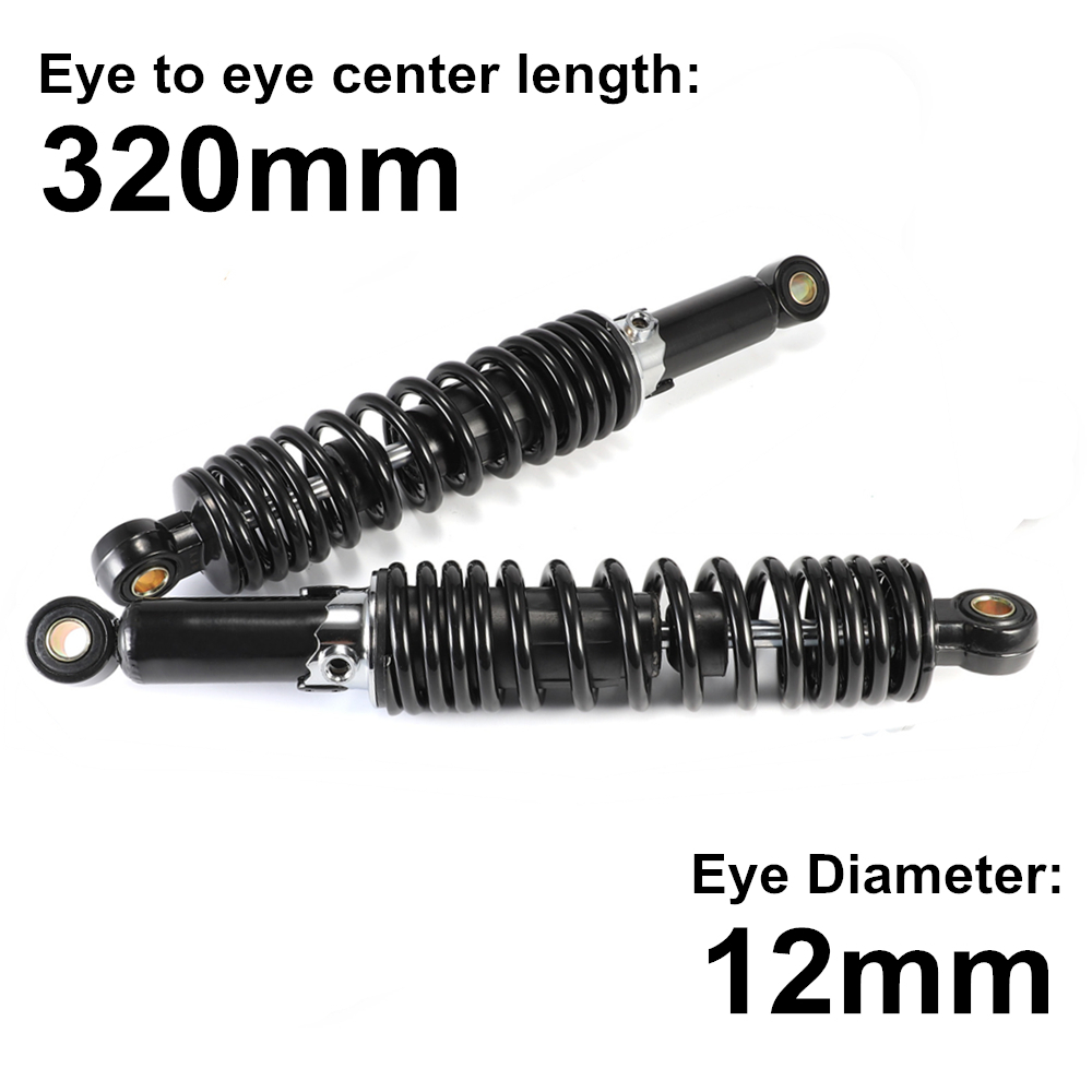 Universals 320mm Motorcycle Accessories Air Shock Absorber Rear Suspension For Yamaha Motors Scooter ATV Quad D45