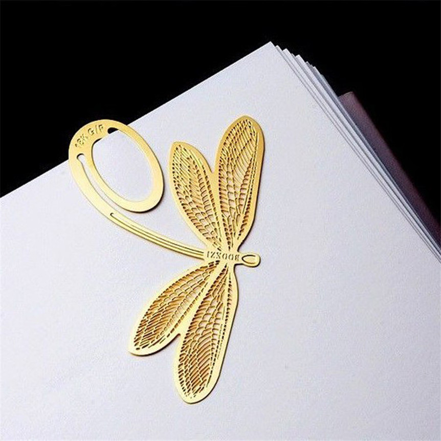 Happy Sale bestselling 2Pcs Book Magazine Label Mark Kid Reading Bookmark Feather Metal  ...