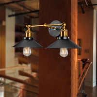Coquimbo 2 Hoofden Moderne Vintage Industriële Muur Light Voor Kid Kamer Woonkamer Loft Metalen Dubbele Rustieke Blaker Binnenverlichting
