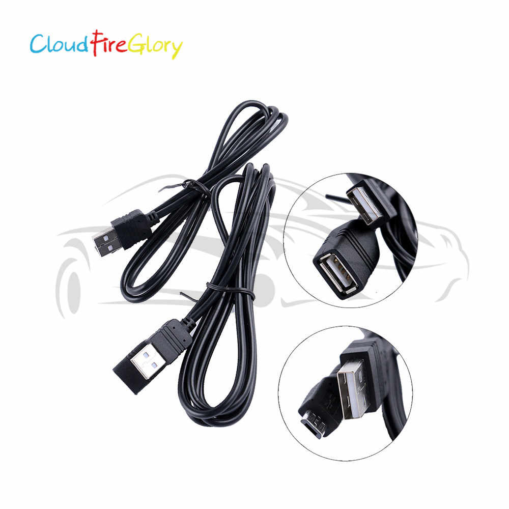 CloudFireGlory For PIONEER CD-MU200 Android Phones CDMU200 2Pcs Interface USB Extension Cable