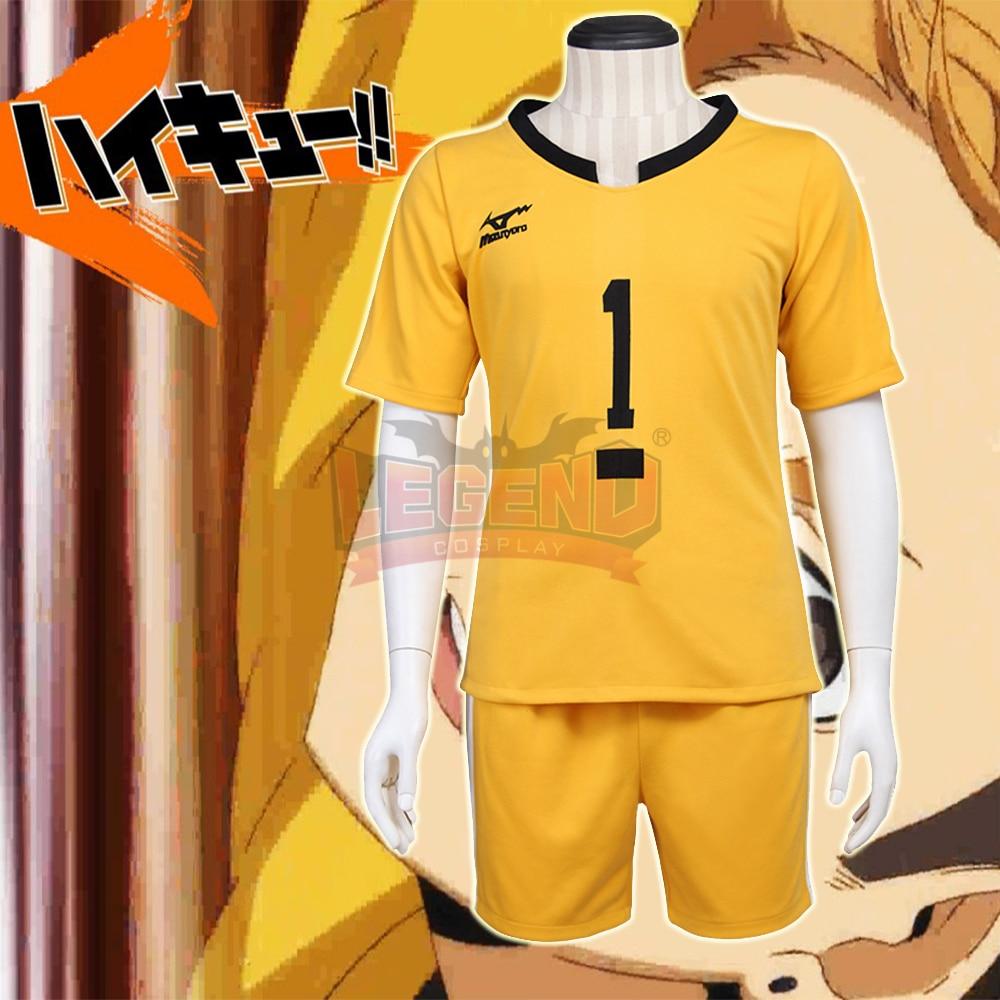 volleyball jersey Haikyuu!! costume Johzenji High Captain Yuuji Terushima Cosplay Costume Jersey Suit All Size