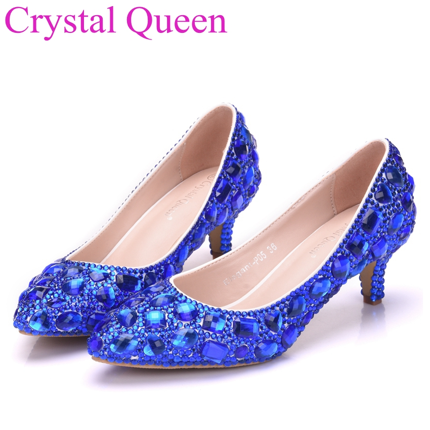 Aliexpress.com : Buy Crystal Queen Women Shoes Small Thick