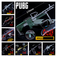 Game Playerunknown's Battlegrounds Cosplay Props PUBG 14Style MK60 Pistol Gun Metal Weapons Keychain Pendant Toy 6Pcs/Set New