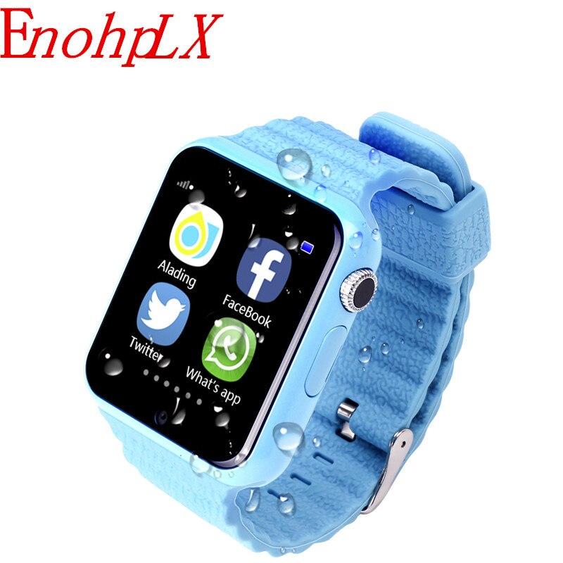 EnohpLX enfants montre intelligente V7K GPS écran tactile caméra SOS localisation dispositif bracelet Tracker enfant coffre-fort enfants montre PK Q90
