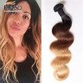 Caliente Cheveux Bresilien Vip Belleza Hair Products 3 Bundles Ombre Peruano Onda Del Cuerpo Virginal Peruano de la Onda Del Cuerpo Ombre Tres Tonos pelo