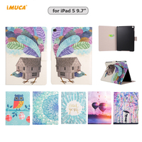 IMUCA Case For I Pad 5 Luxury PU Leather Business Folio Stand Case Auto Wake Up