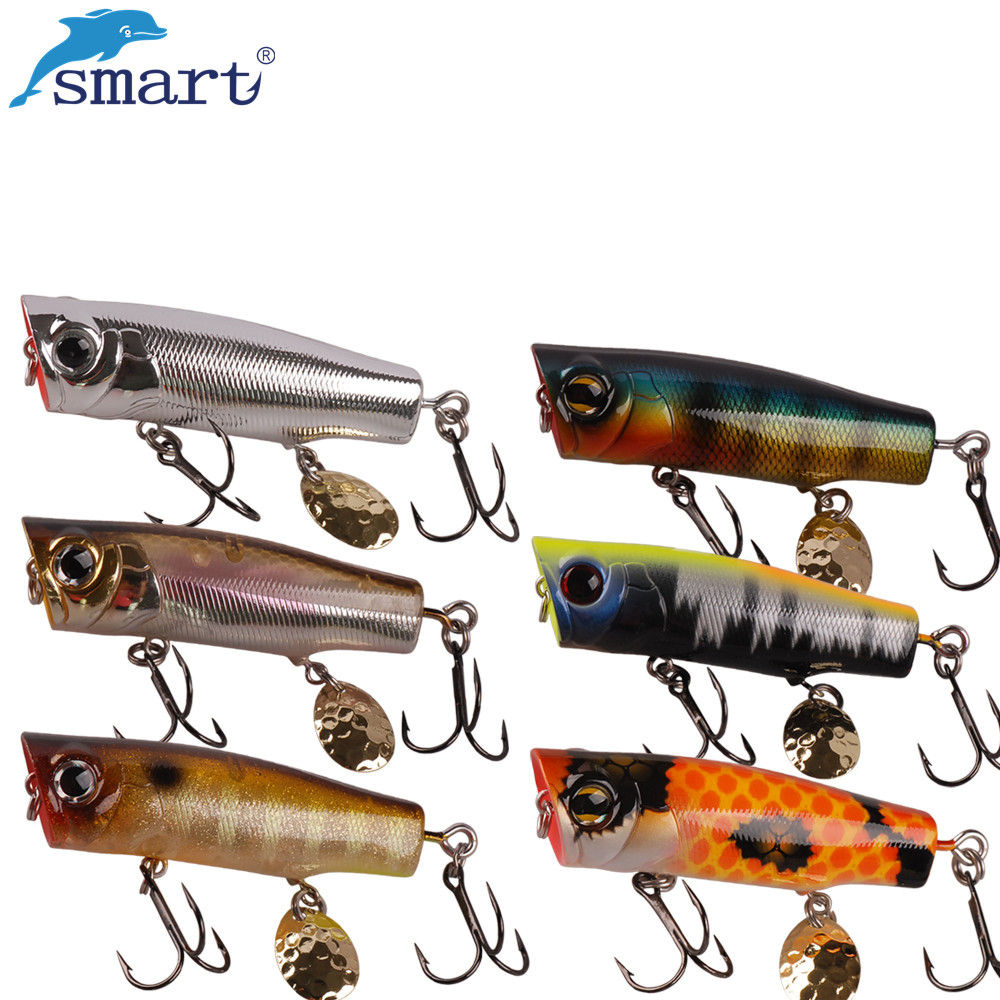 Smart Popper Bait 70mm/12.2g Top Water France VMC Hook Fishing Lures China Isca Artificial Leurre Souple Fishing Tackle Wobbler
