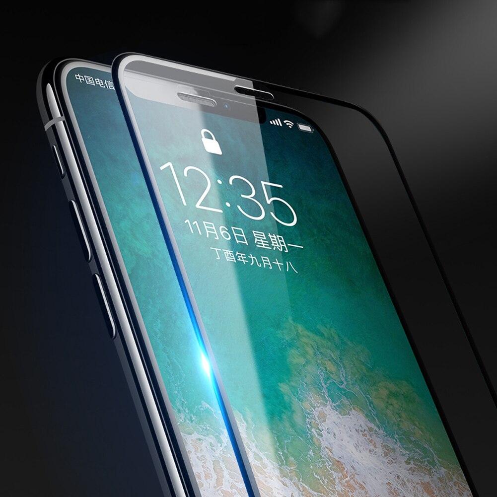 Jetjoy для Apple IPhone X 2.5D Круглый высокая прозрачная прозрачного хрусталя закаленное Стекло Плёнки гладкой Грязезащищенная 6D тонкий тонкий Капа
