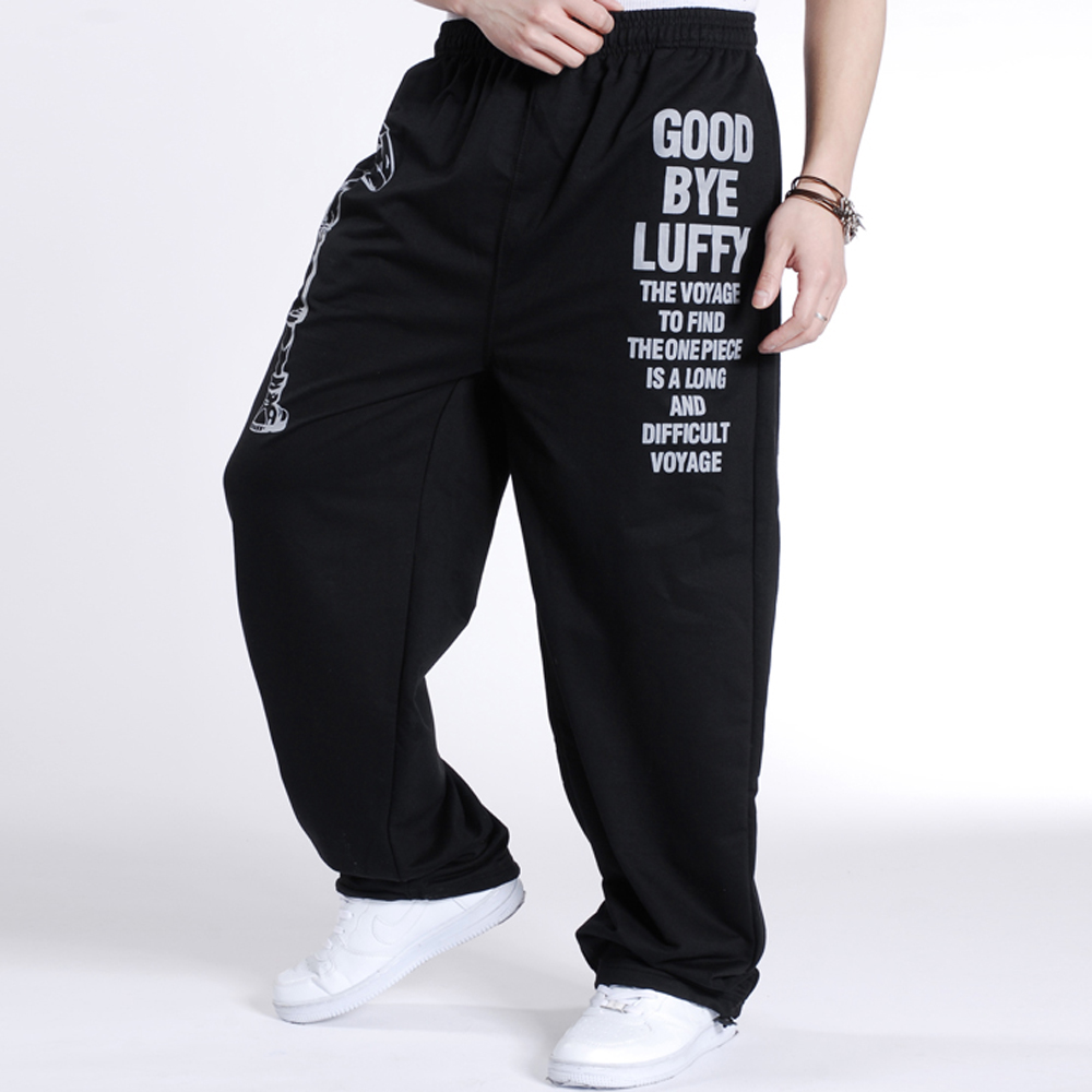 Casual Mens Joggers Printed Baggy Fashion Hip Hop male Jogger Pants  1