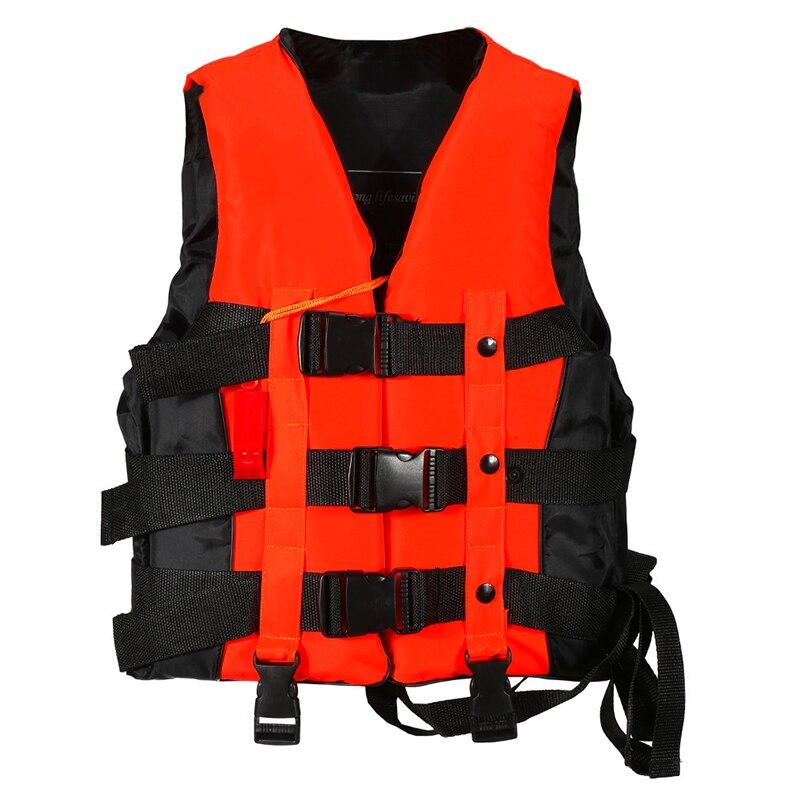Poliestere Adulto Giubbotto di Salvataggio Universale Nuoto Canottaggio Sci Formati di Nuoto Alla Deriva Giubbotto Con Il Fischio Prevenzione S-XXXL Giacche