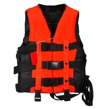 Полиэстер взрослых спасательный Универсальный плавание на лодках лыжи дрейфующих жилет со свистком предотвращения S-XXXL размеры