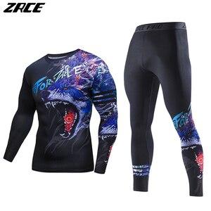 Zrce 2017 زي 3d اثنان قطعة مجموعة الذئب تأثيري زائد الحجم نحيل الرجال ضغط قمصان مضحك تي شيرت أزياء كاملة الرجال الدعاوى