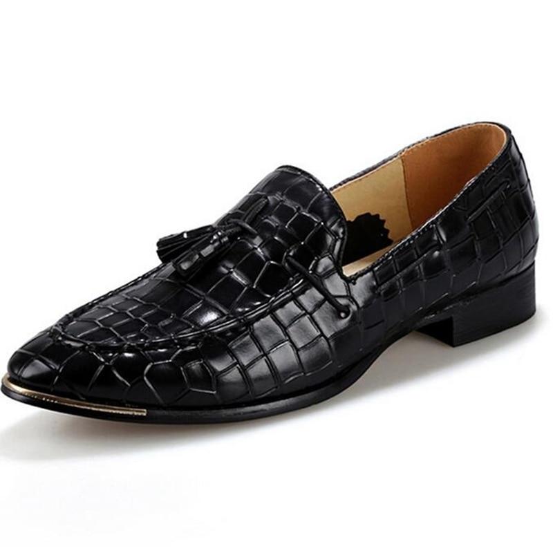 Black Shoes Tassek Moda red Sapatos yellow Couro Vestido Homens Casamento Dedo Oxfords Hombre Homem Festa Apontado P118 blue Dos Nova Zapatos Genuíno De qTHvvB