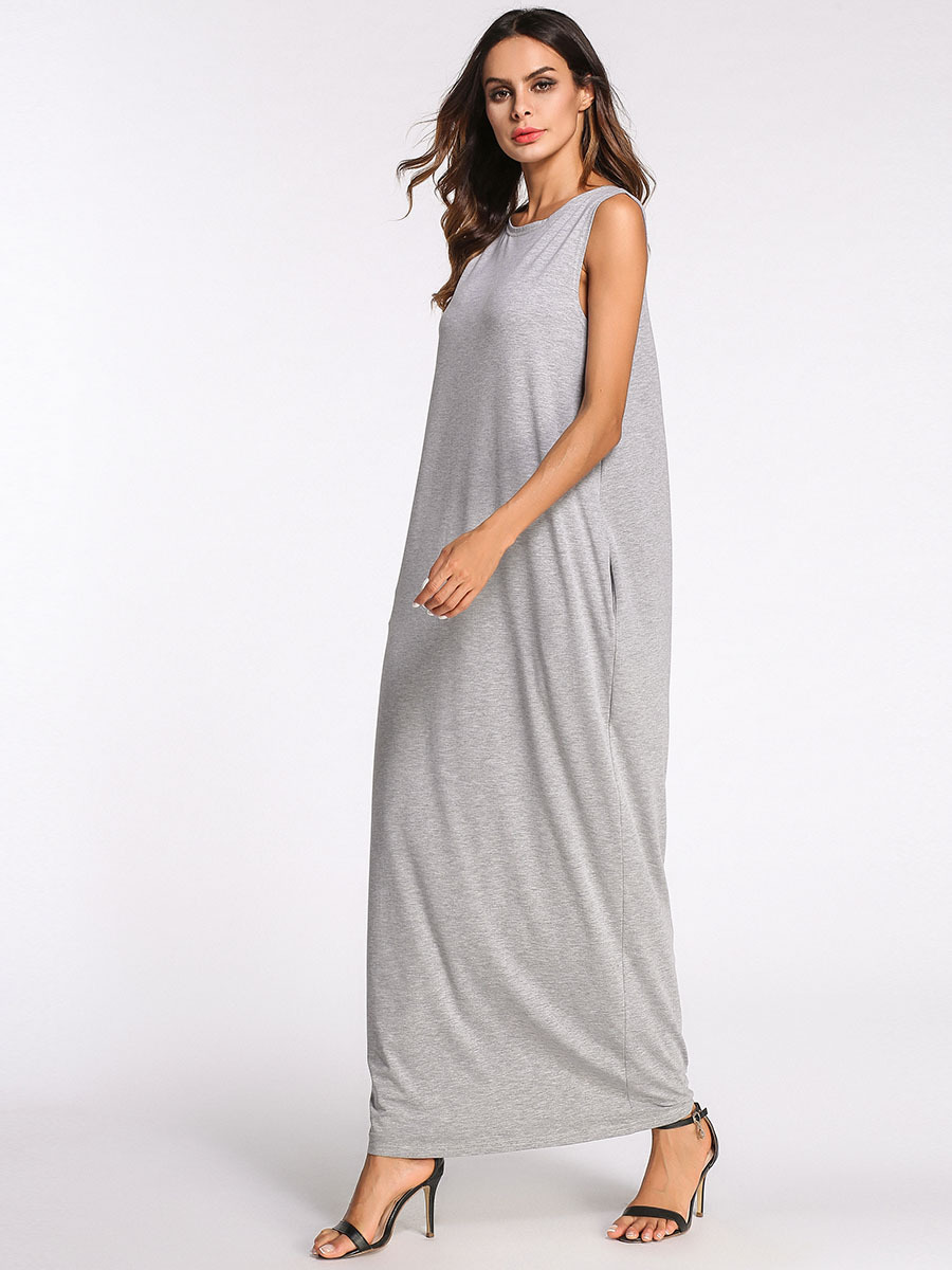 Nightgown Long Sexy Nightgowns Sleeveless Hollow Out Back Plus Size Nightdress Casual Home Dress Sleepwear Dress M-4XL Big Size 1