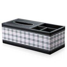 imitation Leather pumping paper box fashion creative desktop multi - functional storage tissue boxes