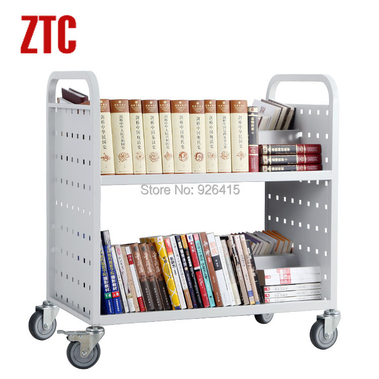 office trolley cart. Double Layers Library W Type Book Cart,double Sided Office File Trolley, Archives Cart RCA 2D LIB15-in Furniture From On Trolley
