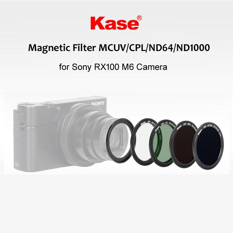 Kase Multi-Enduit UV MCUV Filtre/CPL Polariseur/ND1000 ND3.0/ND64 ND1.8 Neutre Densité Magnétique Filtre pour Sony RX100 M6 Caméra