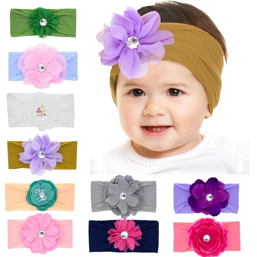Newborn Toddler Kid Baby Girl Headbands Flowers Baby Turban Headband Headwear Baby Hair Accessories Bandeau Bebes Fille 2019