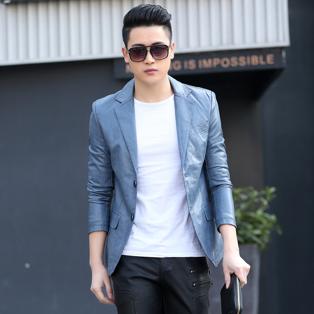 Men 2018 Autumn Winter Leather Jacket Clothing Male Business Casual