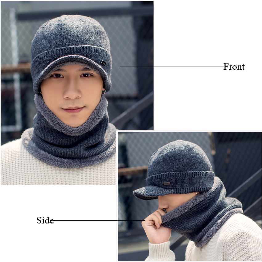 5d486d6c487 Winter Hats Skullies Beanies Hat for Men Women Wool Knit Warm Plush Scarf  Caps Balaclava Mask Gorras Bonnet Knitted Snow Ski Hat-in Skullies    Beanies from ...