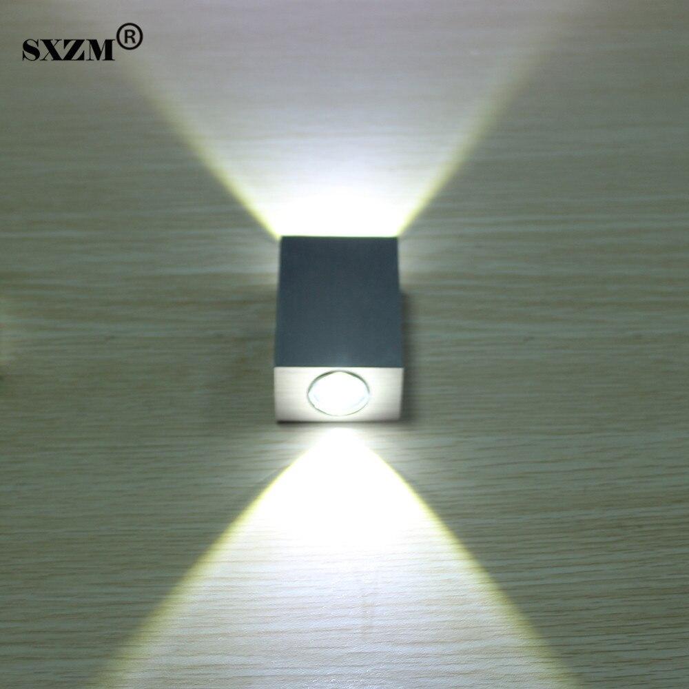 SXZM Moderno 2 W 6 W led wall luce AC85-265V di alta qualità bagno camera da letto lettura della lampada luce della decorazione