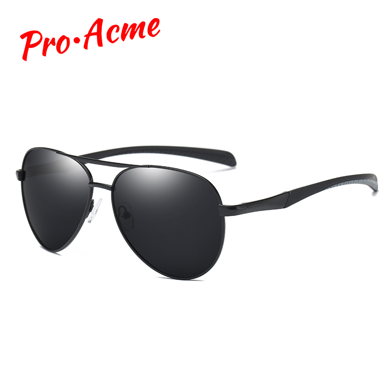 Pro Acme New Mens Polarized Pilot Solglasögon Märke Designer Coating Drivspegel Solglasögon Pilot Sun Glasses UV400 CC0524