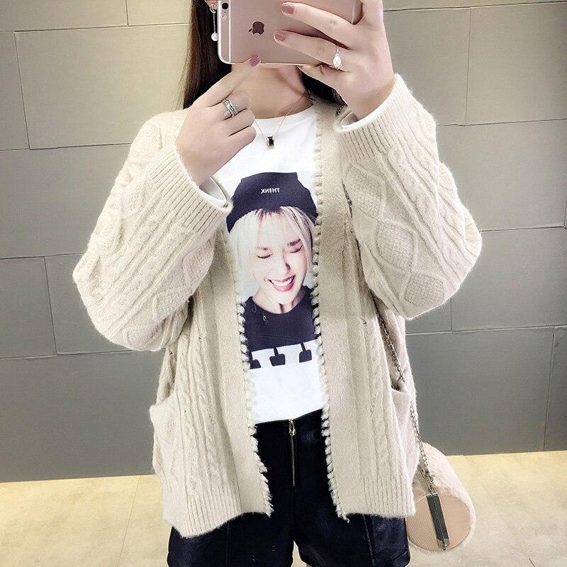 100% Wahr Frühling 2018 Neue Frauen Kleidung Der Han-ausgabe Lose Pullover Mit Eine Kleine Mantel Herbst Kurze Xia Xuesheng Gestrickte Strickjacke