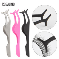 ROSALIND Eyelashes Curler 1PCS Beauty Makeup Fake Eyelash Extension Applicator Nipper For women Cosmetic Tools eyelash tweezers
