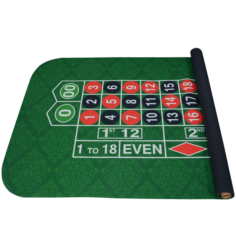 183*90Cm Suede Rubber Square Green Roulette Black Jack Poker Table Mat Poker Gaming Table Cloth Board Cloth with Shoulder Bag 180 90cm texas hold em poker table cloth 10 players poker felt layout poker mat big poker layouts