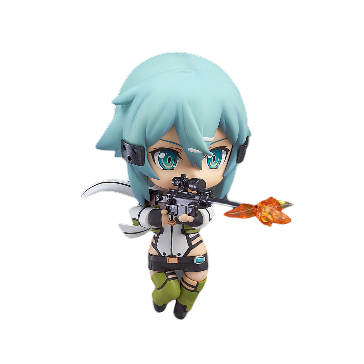 Chanycore GSC Nendoroid 452# Sword Art 2 Online SAO Gun Gale Online Asada Shino Sinon Kazuto Ghost Bullet Ver PVC Model 10cm 4'' sc32 800 free shipping standard air cylinders valve 32mm bore 800mm stroke sc32 800 single rod double acting pneumatic cylinder