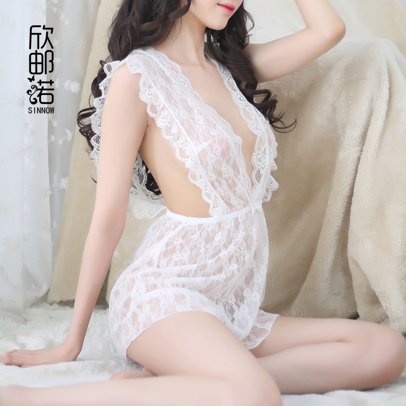 Hot Sale Mature Women Sexy Lingerie Costumes Dress Lace Leisure Sexy Wear Sleepwear Woman Temptation V Sexy Pajamas