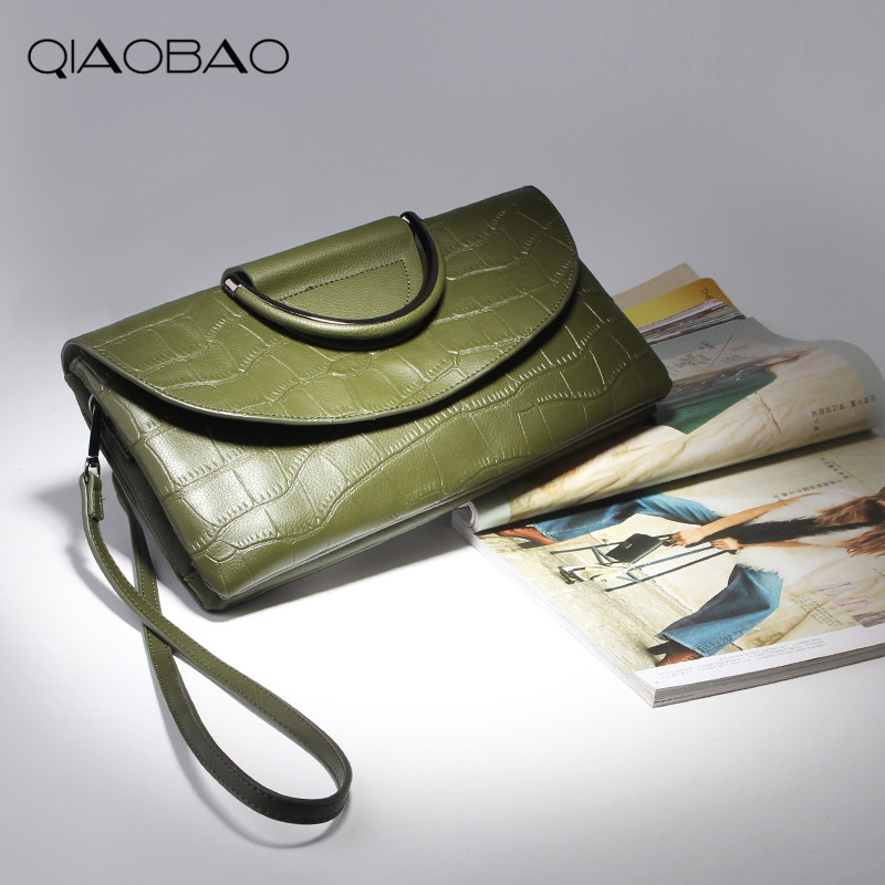 QIAOBAO 2018 new leather handbags handbags women handbags women Europe and the United States fashion shoulder bag female cowhide new arrival leather handbags women fashion phone bag female storage wallets