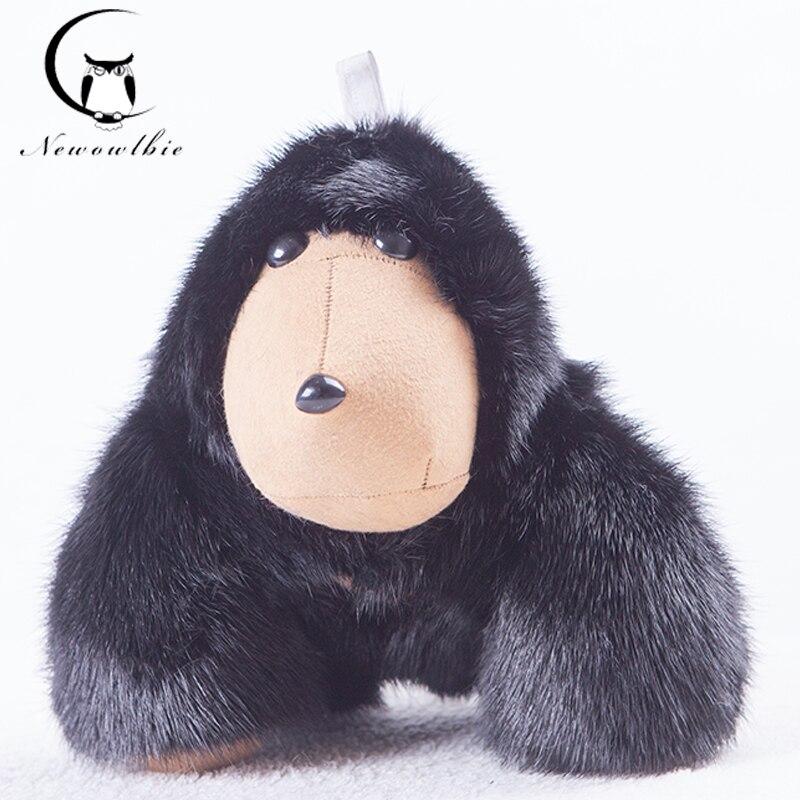 Новый 2020 copenhair Настоящий мех сильный орангутанг брелок аксессуары из меха норки сумка кольцо для ключей модные аксессуары роскошные игрушк