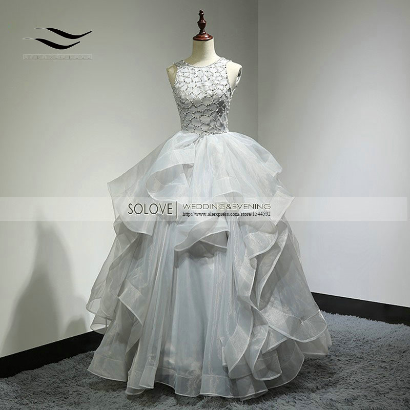 Custom Made Sexy Organza Top Royal Backless Ball Gown Wedding Dress Long Wedding Gown Bridal Gown Vestido De Noiva SL-W269
