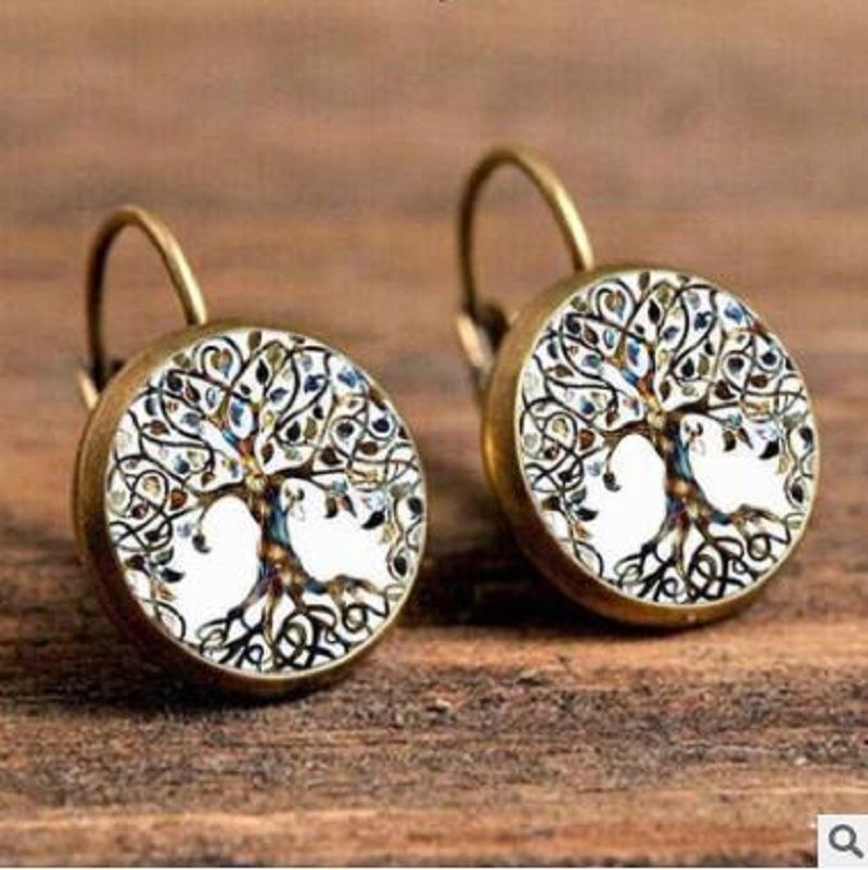 Exknl Boho Flower Drop Earrings For Women Vintage Jewelry Geometric Pattern Round Earings Bijoux boucles d'oreilles bohemia 11