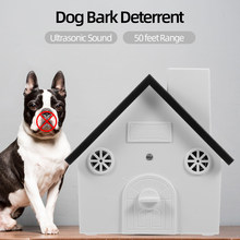Outdoor Ultrasonic Pet Dog Anti Barking Repeller 4 Levels Sonic Bark Deterrents Dogs Training Control Tool(China)