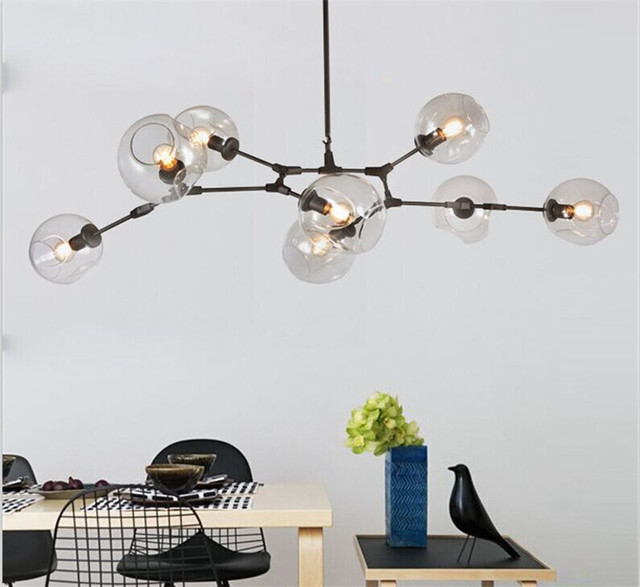 Modern molecular tree chandelier nordic loft industrial ceiling modern molecular tree chandelier nordic loft industrial ceiling lights black gold retro lindsey adelman glass for mozeypictures Image collections