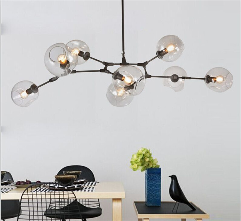 Modern Molecular Tree Chandelier Nordic Loft Industrial Ceiling Lights Black Gold Retro Lindsey Adelman Glass for Bar Stair Room
