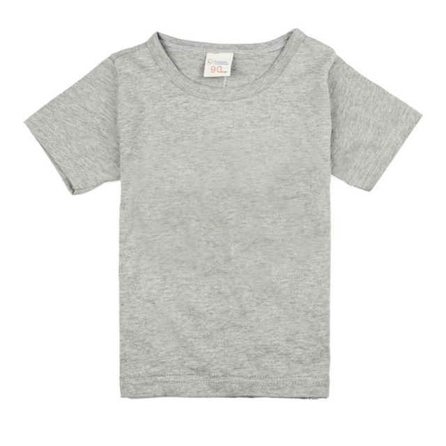 Cotton Solid Color T-Shirts for Kids