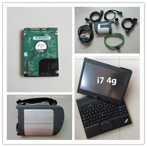 mb sd connect c4 mb star diagnosis with hdd newest software 2018.05 installed in laptop thinkpad x201 tablet i7 4g ready to use