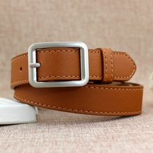 New Women belt Korean student fashion versatile buckle ladies and jeans casual wide college wind 105cm Female alloy Casual