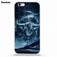 TPU Mobile Shell For Sony Xperia Z Z1 Z2 Z3 Z4 Z5 compact Mini M2 M4 M5 T3 E3 E5 XA XA1 XZ Premium Bull Smoke Animals(China)